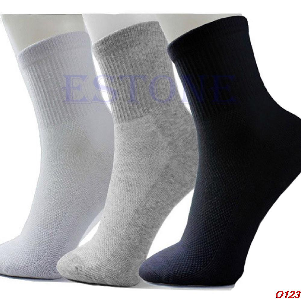 10 Pairs/lot Lot Man casual black/grey/white Cosy Cotton Socks-geekbuyig