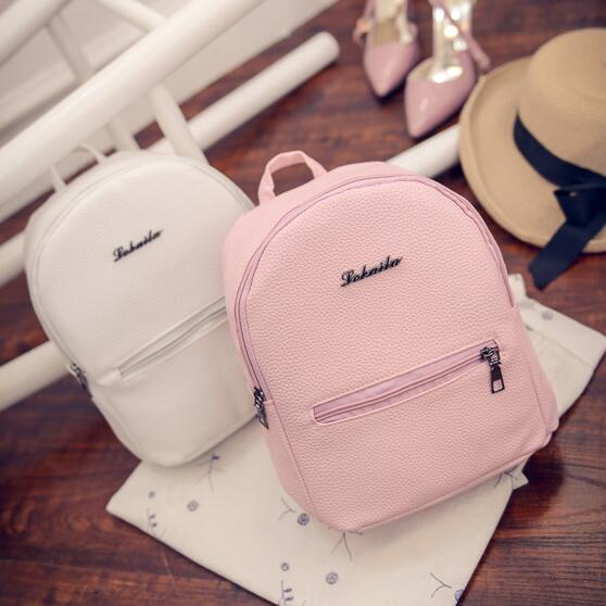 Free shipping Sweet College Wind Mini Shoulder Bag High quality PU leather Fashion girl candy color small backpack female bag-geekbuyig