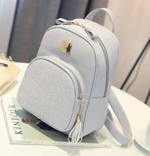EnoPella women backpack leather school bags for teenager girls stone sequined female preppy style small backpack-geekbuyig