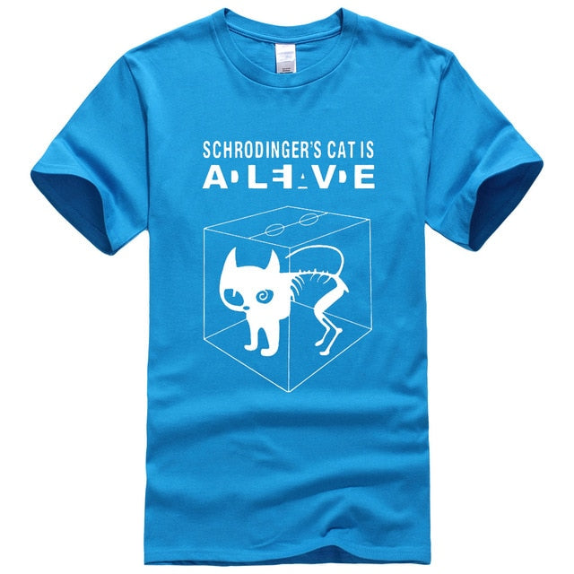The Big Bang Theory Schrodinger's Cat men's T-shirts pattern 2017 summer fashion casual t shirt streetwear hip hop brand top tee-geekbuyig