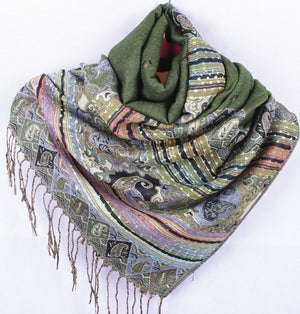 Fashion Gray Women's Silk Pashmina Shawl Scarf Wrap honeybee flower Free Shipping Wholesale Retail FF-XMF7-geekbuyig