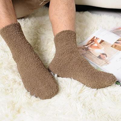 1pair Extremely Cozy Cashmere Socks Men Women Winter Warm Sleep Bed Floor Home Fluffy-geekbuyig