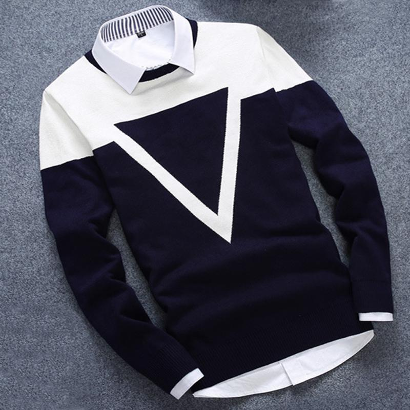 New Design 3 Colos Fashion Man Sweater Men Casual Cotton Fall Autumn Mens Sweaters Keep Warm Winter Pull Homme-geekbuyig