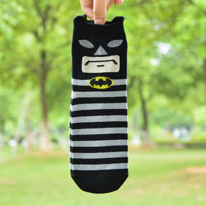 New Superheros Captain America Ironman Spiderman Cute Cartoon Casual ankle cotton socks slippers harajuku EUR39-44-geekbuyig
