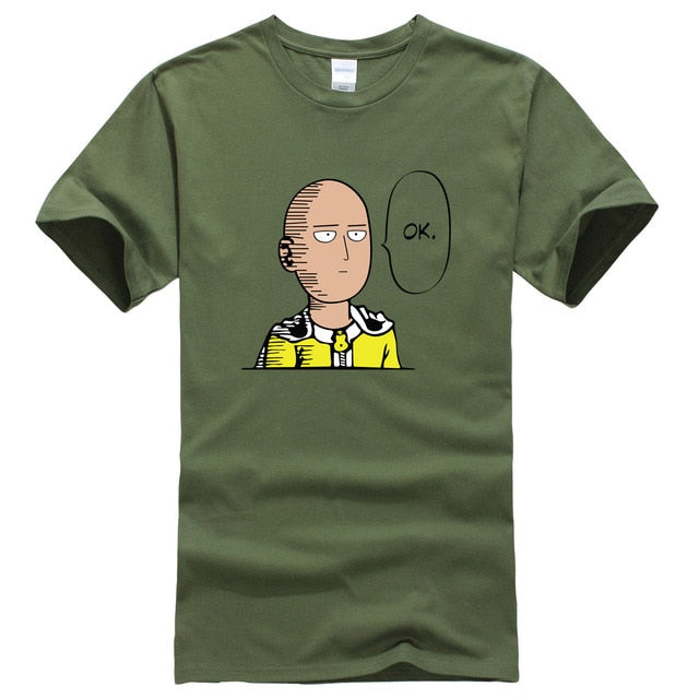 2017 summer T-shirt One Punch Man Hero Saitama Oppai anime cartoon men's T-shirts cotton hot t shirt men kpop brand clothing top-geekbuyig