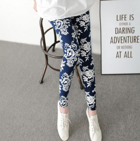 2017 European High quality milk silk Nine leggings Women elastic Printed leggings Lady sporting leggings fitness push up Jegging-geekbuyig