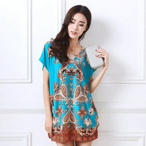 New 2017 Summer T Shirt Women Tops Short Sleeve Female T-shirt Print Plus Size Long Tunic Loose Tees Camisetas Mujer Vestidos-geekbuyig