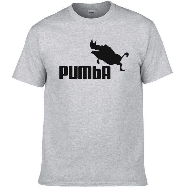 2016 funny tee cute t shirts homme Pumba men short sleeves cotton tops cool tshirt summer jersey costume t-shirt #062-geekbuyig