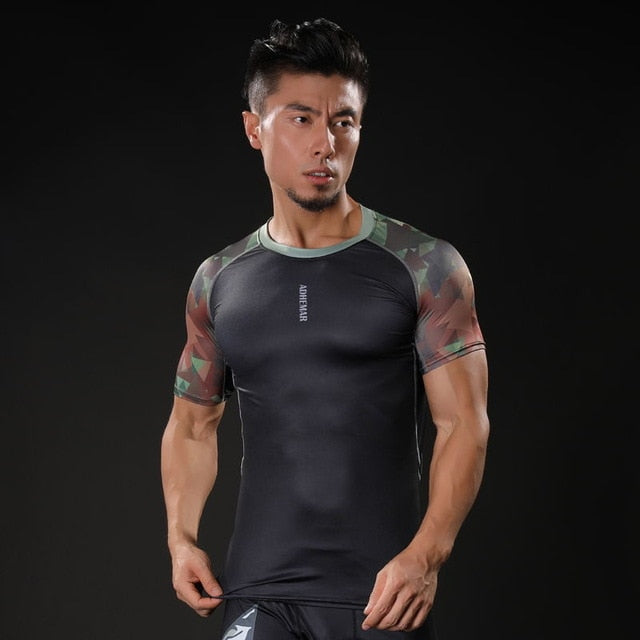 2017 Spider-man 3D Printed T-shirts Men Compression Shirt Raglan Short Sleeve Crossfit Fitness Cloth Tops Male Cosplay Costume-geekbuyig