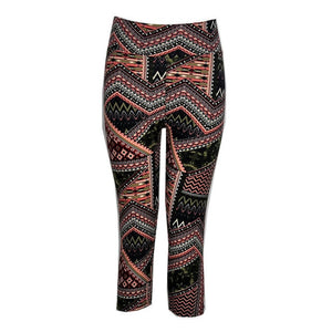 Floral Printing Capris Leggings High Waist Stretched Clothes Spandex Quick-Drying Womens Leggings Fitness Pants 12 Colors-geekbuyig
