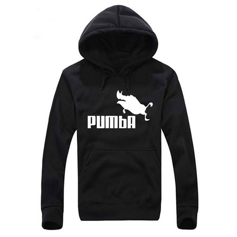 2016 Pumba Black Hooded Sweatshirt with Hoodies Men Brand in Mens Hoodies and Sweatshirts xxl-geekbuyig