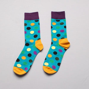 PEONFLY funny Socks men Cotton Autumn Circle Point Happy Socks 4PAIRS/LOT Best Sellers meias homens meia-geekbuyig