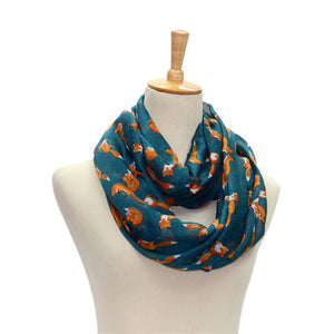 Women Vintage Fox Animal Printed Long Soft Cotton Voile Scarf Shawl Wrap Scarves Hot!-geekbuyig