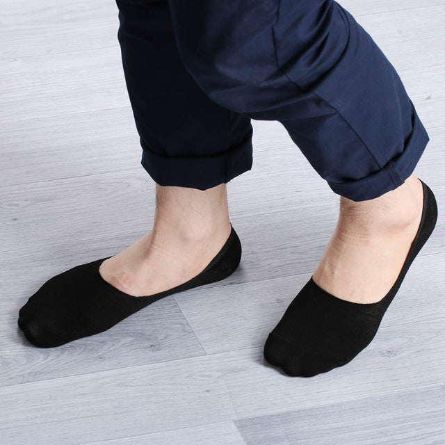 1 Pairs Women Men Soft invisible socks Low Cut Casual Cotton Loafer Boat Non-Slip Invisible No Show Socks Spring Summer Styles-geekbuyig