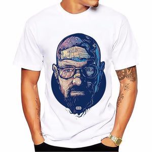 Breaking Bad heisenberg Walter White jessie pinkman t-shirt short sleeve casual tshirt Breathable comfort plus size t shirt-geekbuyig