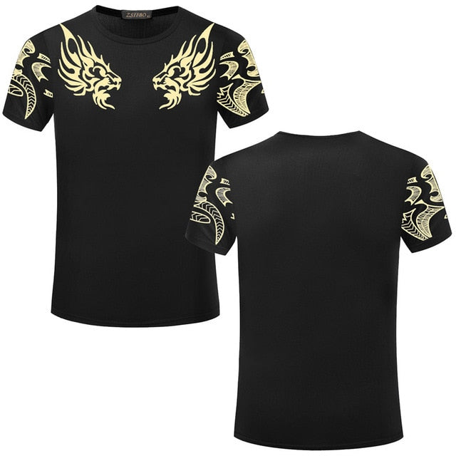 2016 Fashion Brand New men's T-shirt Indian Print t shirt Casual loose fit Short Sleeve O-neck Tops Tees male tshirt TX80 R-geekbuyig