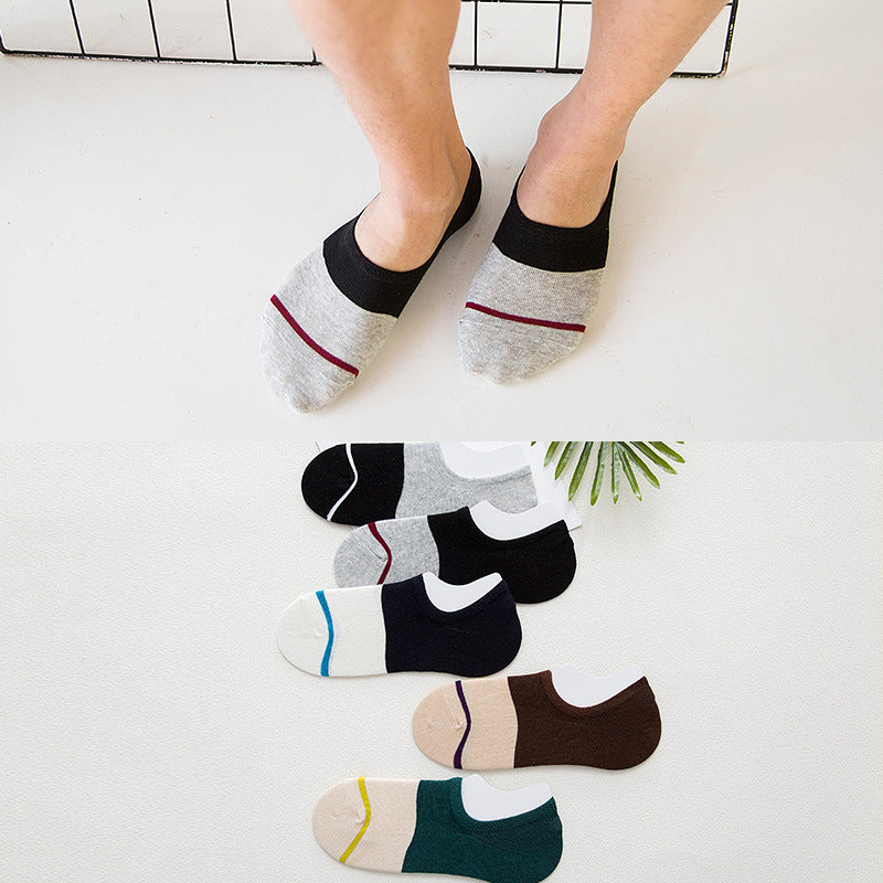 Summer Male Invisible Socks Man Cotton Frontline Leisure Time Sock Low Cut Ankle Sock boy boat casual slippers 1pair=2pcs WS115-geekbuyig