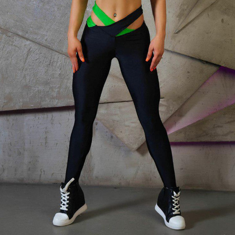 New Straps Bow Women Leggings Fitness Sporting Pants High Waist Color Foot Workout Leggings For Women Sexy Slimming Pencil Pants-geekbuyig