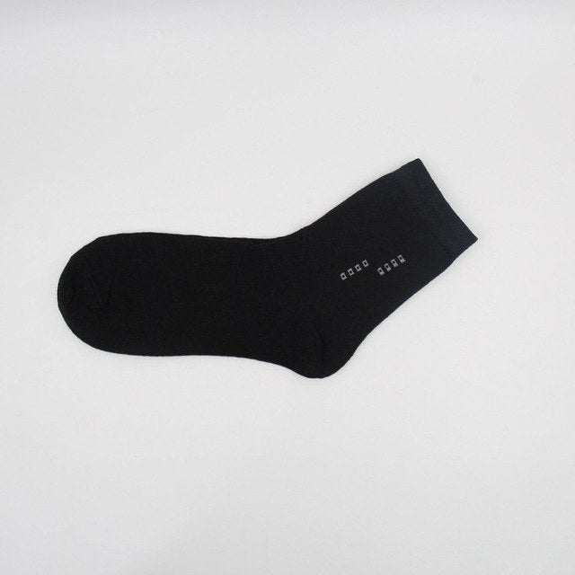 5 Pairs/Lot Men's Socks Summer Cotton Formal Solid Color Breathable Short Sock Business Black Excellent Quality Male Sock Meias-geekbuyig