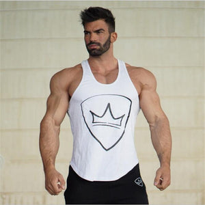YEMEKE Newest Summer Fashion design Men Tank tops strong printed hipster Vest White, black, army green-geekbuyig