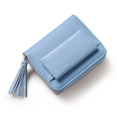 Hot Sale Fashion Short Tassel Women's Wallets Lady Mini Card Holder Wallet Female Credit Card Coin Purse Brand 3 Fold 2017 New-geekbuyig