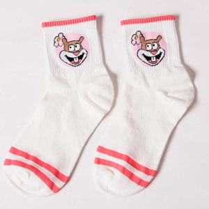 Fashion Cartoon Character Cute Short Socks Women Harajuku Cute Patterend Ankle Socks Hipster Skatebord Ankle Funny Socks Female-geekbuyig