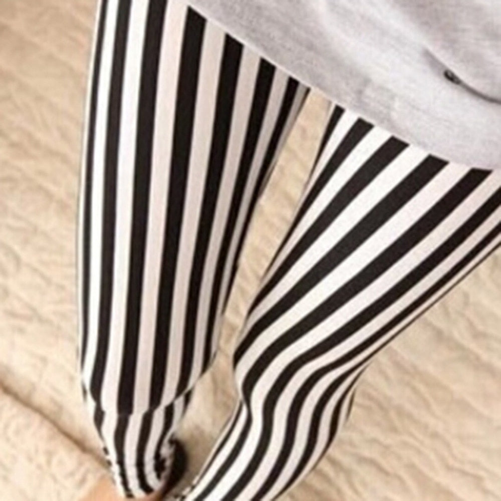 New 2017 Autumn National Ethnic Style Retro Stripes Paintings Printing Flowers Trousers Printed High Elasticity Leggings-geekbuyig
