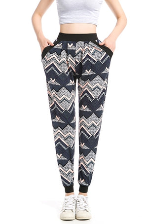 Harem Pants Women Pantalones Mujer Pants Women Sweatpants Ethnic Plus Size Jogger Pant Casual long Sweatpant Printed Trousers-geekbuyig