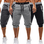 New Fashion Mens Baggy Jogger Casual Slim Harem Short Slacks Casual Soft Cotton Trousers Shorts-geekbuyig