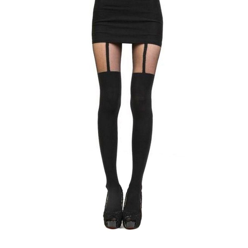 New 2017 Women Mock Suspender Tights, Sexy, Soft And Comfortable Tights Highly Fashionable Stockings Patterned Pantyhose-geekbuyig