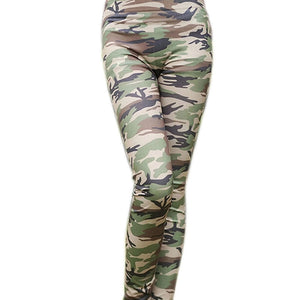 Sexy Womens Skinny Camouflage Punk Funky Leggings Stretchy Pencil Pants Hot Sale Hottest-geekbuyig