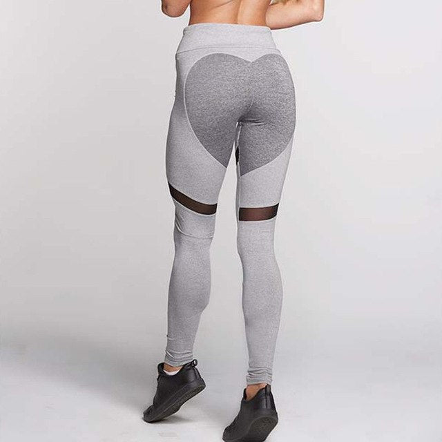Thick Fabric Women Heart Leggings High Elastic Patchwork Push Up Sporting Legging Fitness Dry Quick Breathable Slim Pants-geekbuyig