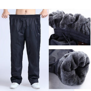 Gradnwish Plus Size 4XL 5XL 6XL Heavyweight Pants Men 2017 Winter Mens Fleece Pants Large Size Warm Thick Pants Men Active,PA782-geekbuyig