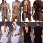 1pcs High Quality men robes bathrobe plus size Manview robe for man mens sexy sleepwear male kimono silk sleepwear-geekbuyig