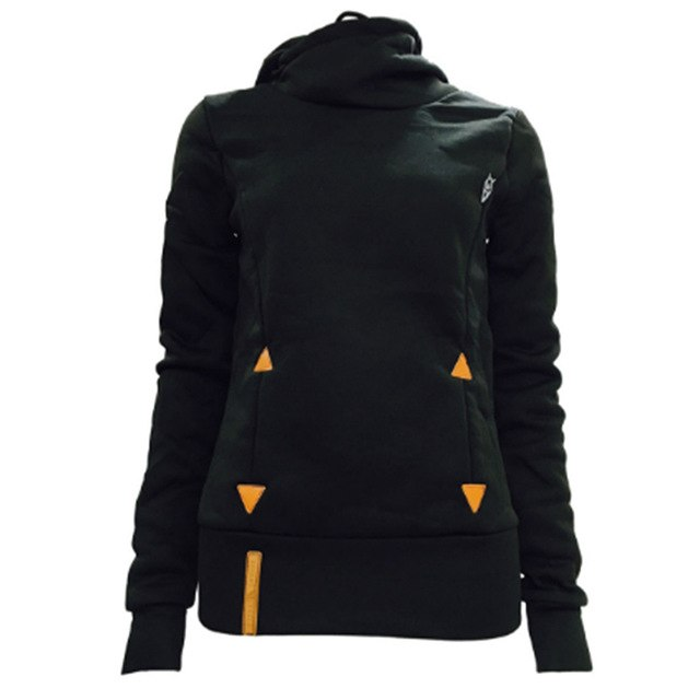 New Autumn Women Hoodies Long Sleeve Slim Casual Pullovers Hoodies Draw Cord Two Pockets Classic Hooded Sweatshirts 5XL DP900342-geekbuyig