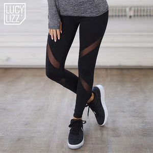 Mesh Patchwork Leggings Pants Women Leggins Fitness Women Trousers Slim Leggings Sportswear Legins Pants-geekbuyig