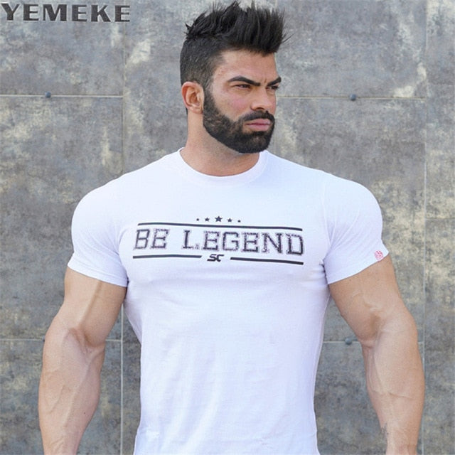 Mens summer fitness Bodybuilding cotton t-shirt gyms workout Short sleeve shirts male Fashion leisure tees tops brand clothes-geekbuyig