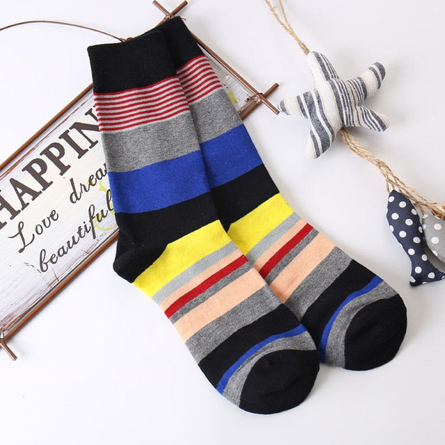 Autumn and winter new personality creative graffiti men socks High quality cotton fashion casual men's socks-geekbuyig