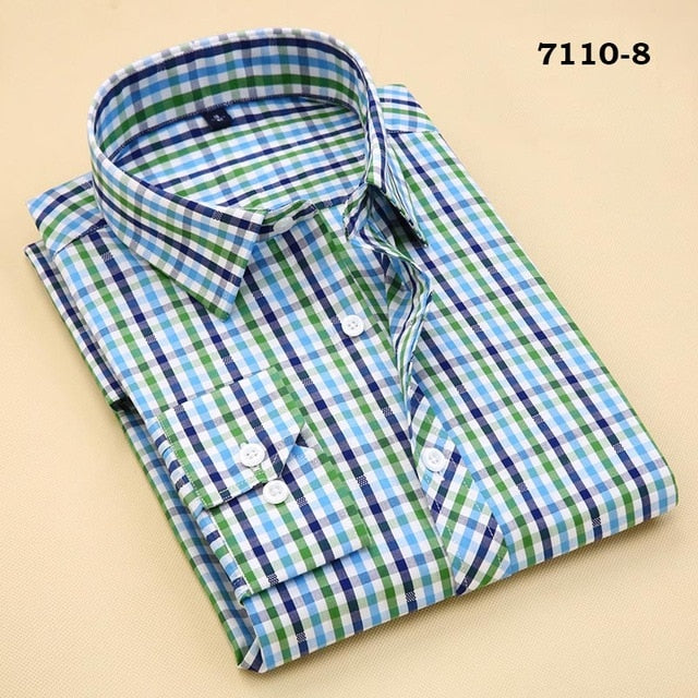 100% Cotton Men's Plaid Casual Shirts Men's Leisure Social Shirts Contrast Color Fashion Design Stylish Style Men's Clothing-geekbuyig