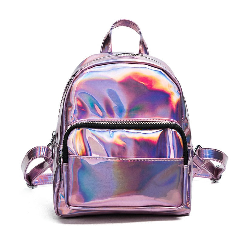 Mini backpacks for teenage girls bolsa feminina mochila mochilas women's backpack Laser transparent Backpack female small a bag-geekbuyig
