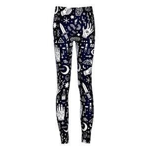 2017 Women Printing Punk Leggings High Stretch Ankle Skinny Pants Ladies Leggings Female-geekbuyig