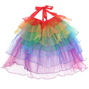 Sexy Womens Costume Tutu Skirts rainbow Girls Ball Party Colorful Petticoat Tutu Skirt Underskirt Fancy Mini Skirt-geekbuyig