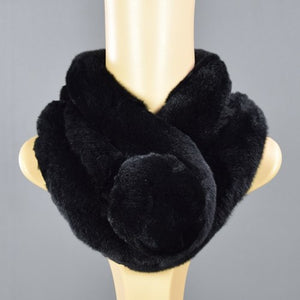 Rabbit hair scarf Three tube female scarves Rex rabbit fur genuine fur collar ring Multi color 2017 Russian Winter Scarf ladies-geekbuyig