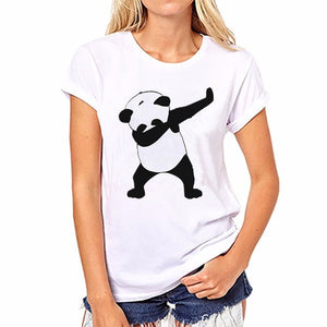 2017 Summer Harajuku Rainbow Unicorn Panda T Shirt Women Tops Kawaii T-shirt Unicornio White Short Sleeve Blusa Licorne Tshirt-geekbuyig