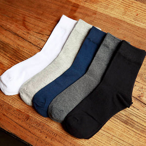 Man cotton socks male high men sock pure color business spring summer four season-geekbuyig