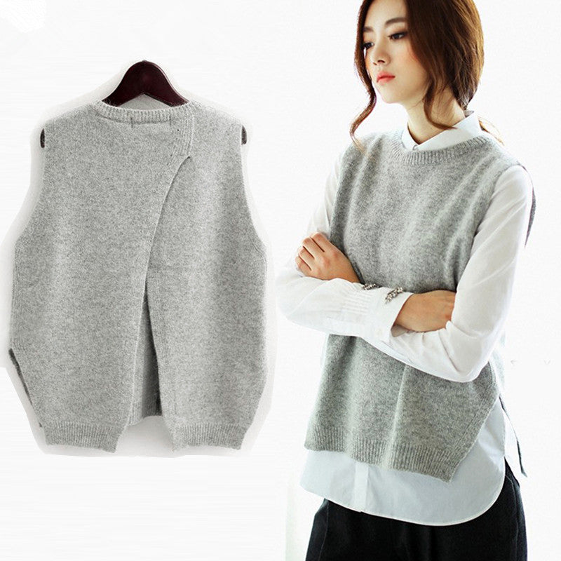 2017 New Cashmere Knitted Tank Tops Women Spring Waistcoats Pullovers Sweater Jacket Sleeveless Vests Coat Female Plus Size-geekbuyig