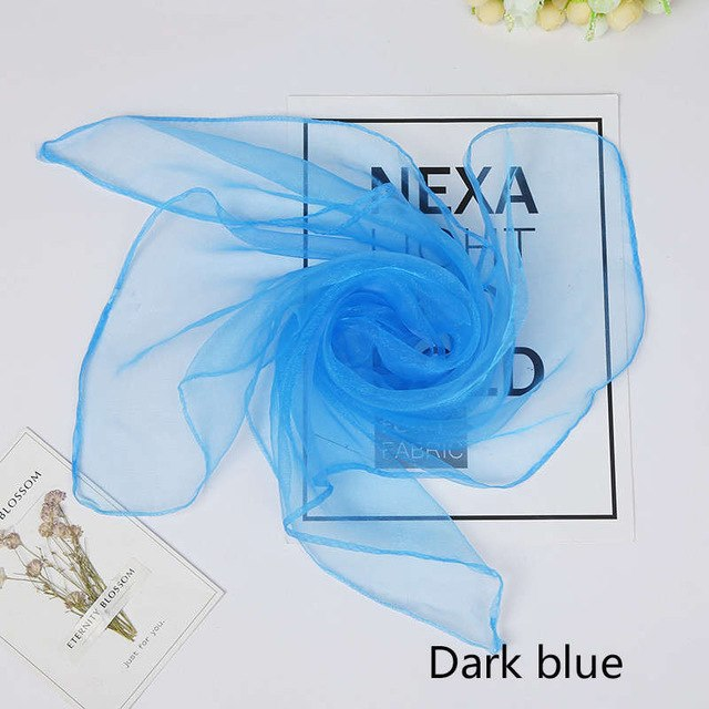 Sale Women Girls Kids candy color decorate Square scarf 60*60cm Sold Fashion headscarf gauze kerchief Multi-function Female-geekbuyig