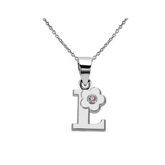 My Shape Alphabet Jewelry Girls Name Necklace gift Friendly Alloy English Letter A B C D E F G H I J K L M N Capital Pendants-geekbuyig