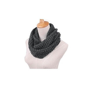 Hot Sale Fashion Women Winter Warm Knitted Neck Circle Wool Cowl Loop Long Scarf Shawl Ring New Brand-geekbuyig