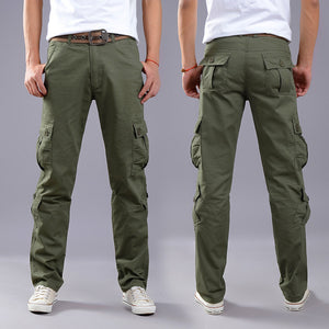 Brand Mens Military Cargo Pants Multi-pockets Baggy Men Pants Casual Trousers Overalls Army Pants Cargo Pants high quality-geekbuyig